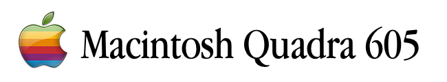 Resources for the Macintosh Quadra 605 computer